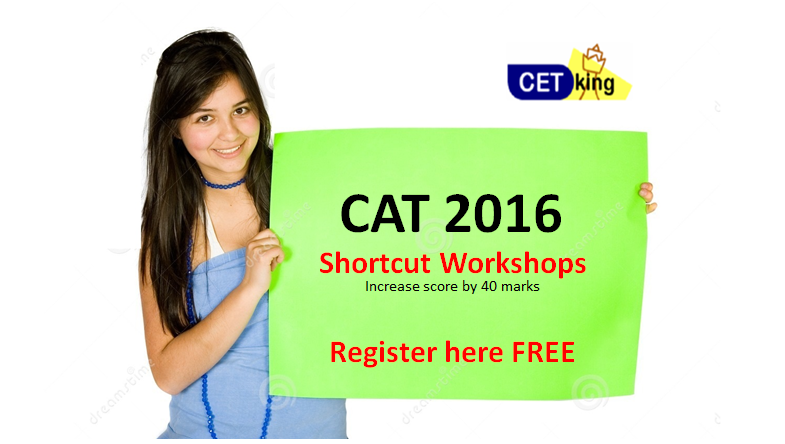CAT CET Cetking Shortcut workshops increase score by 40 marks