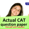 Cat 2018 question paper with solution pdf: bus tokens.