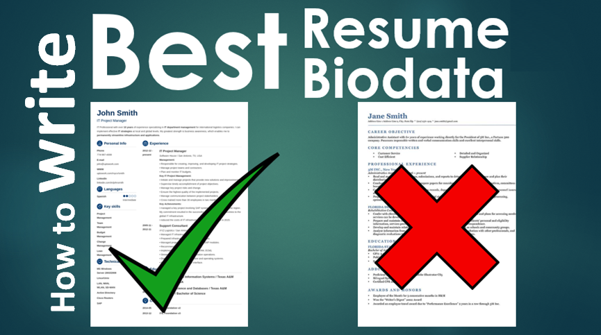 How to create a killer Powerful Resume biodata CV - Cetking
