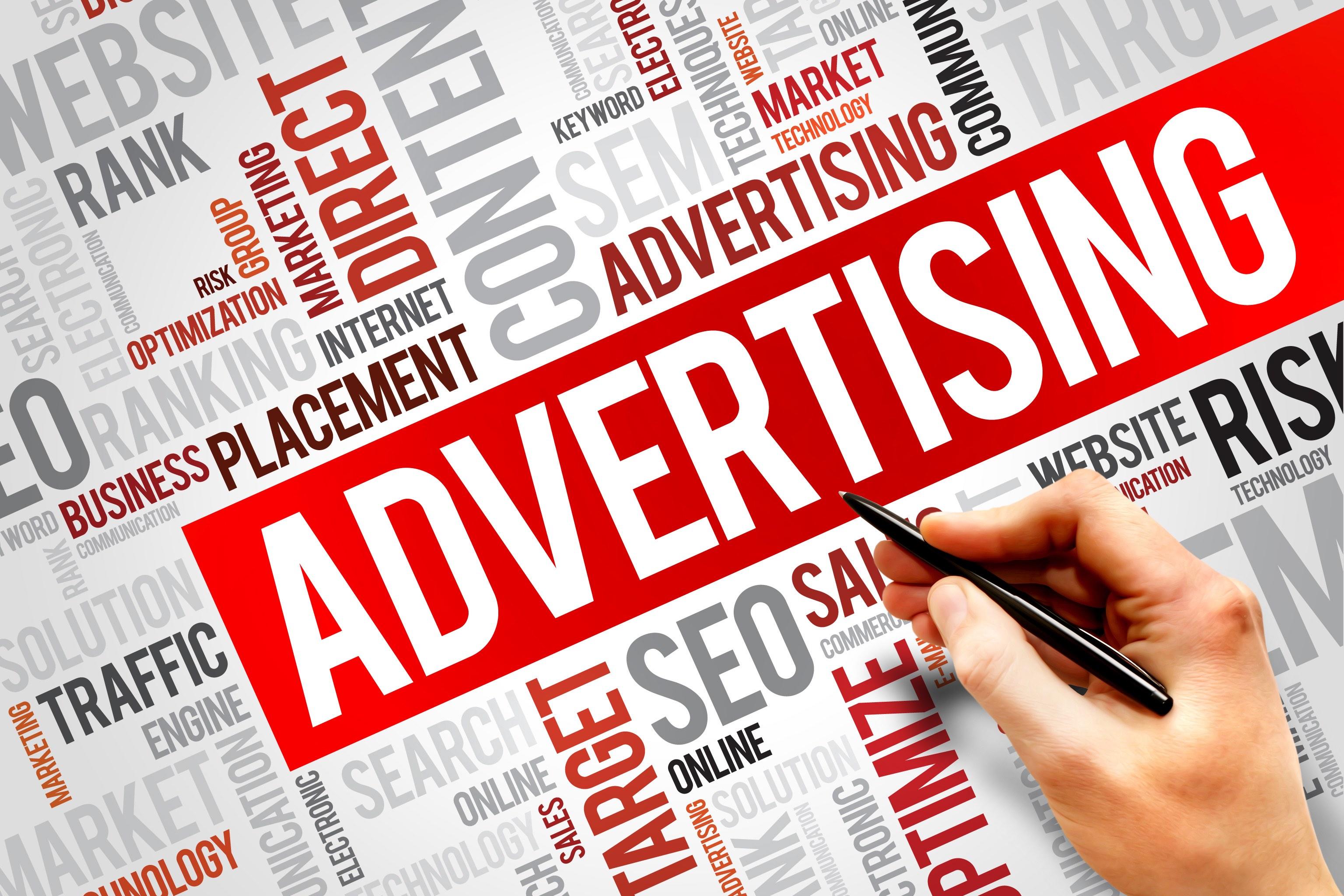 image vs word in advertising