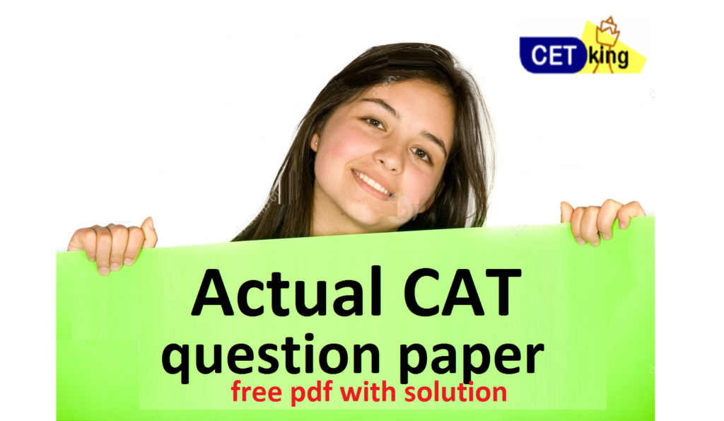 CAT 2001 paper with solution pdf free download by Cetking